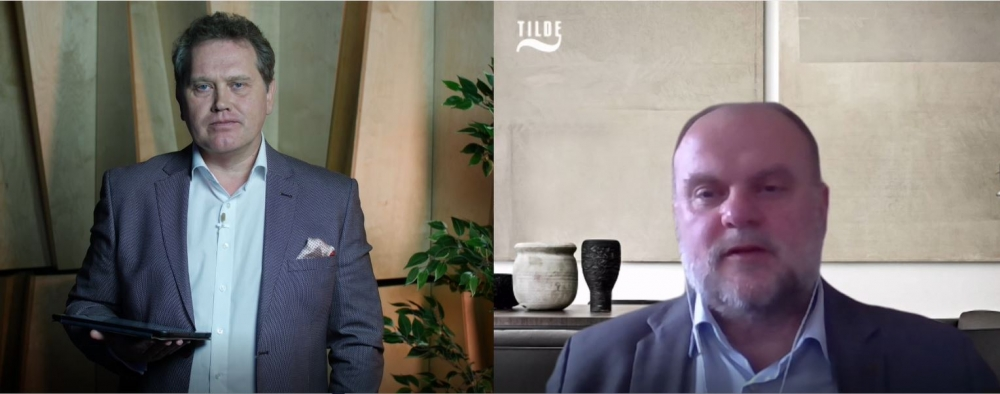 """Kaspars Kauliņš konferencē Cilvēkfaktors par tēmu """"Kad globāla krīze nogalina stratēģiju""""."""