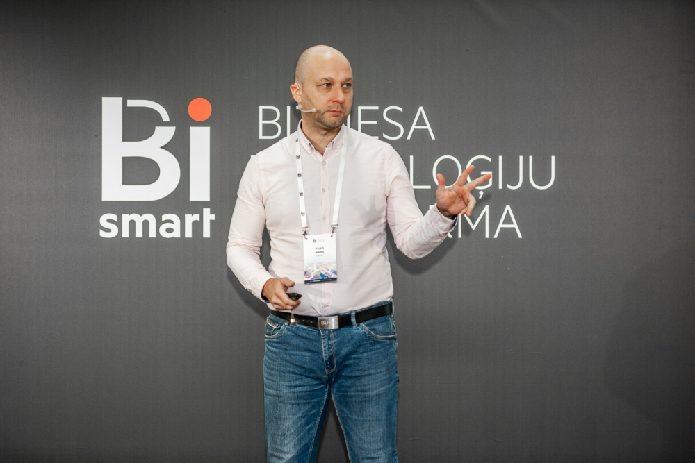 Pauls Irbins BiSmart konferencē