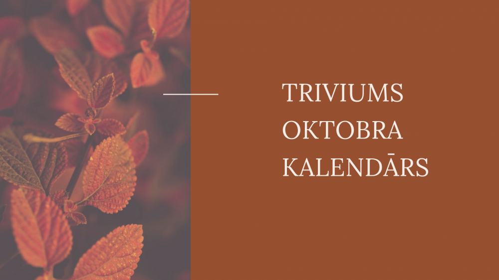 Oktobra kalendārs